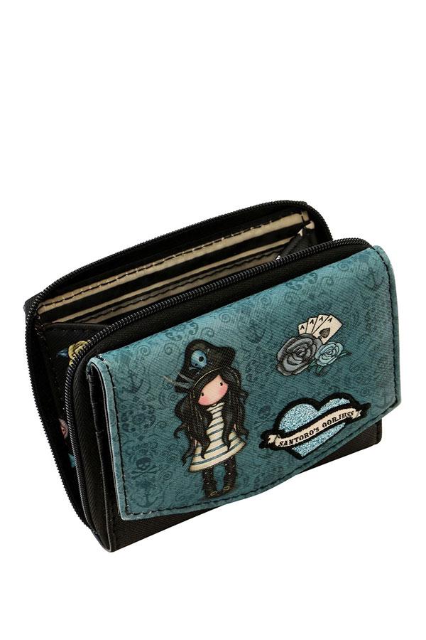 Santoro gorjuss Πορτοφόλι με φερμουάρ - Black Pearl 1074GJ01