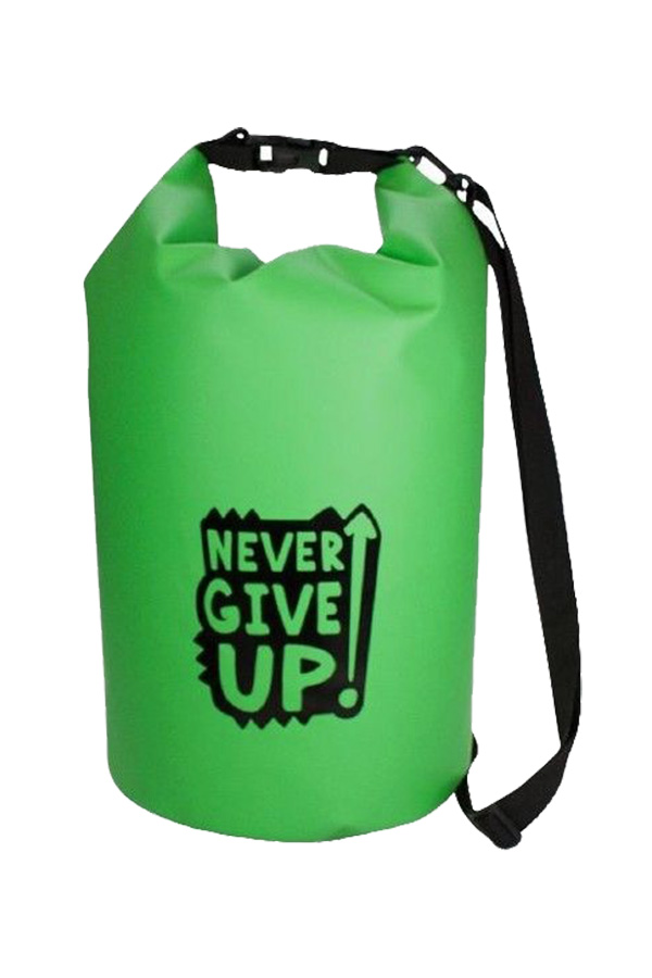 16d9b2cf199 Σακίδιο πλάτης αδιάβροχο TRENDHAUS Never Give Up πράσινο 945822
