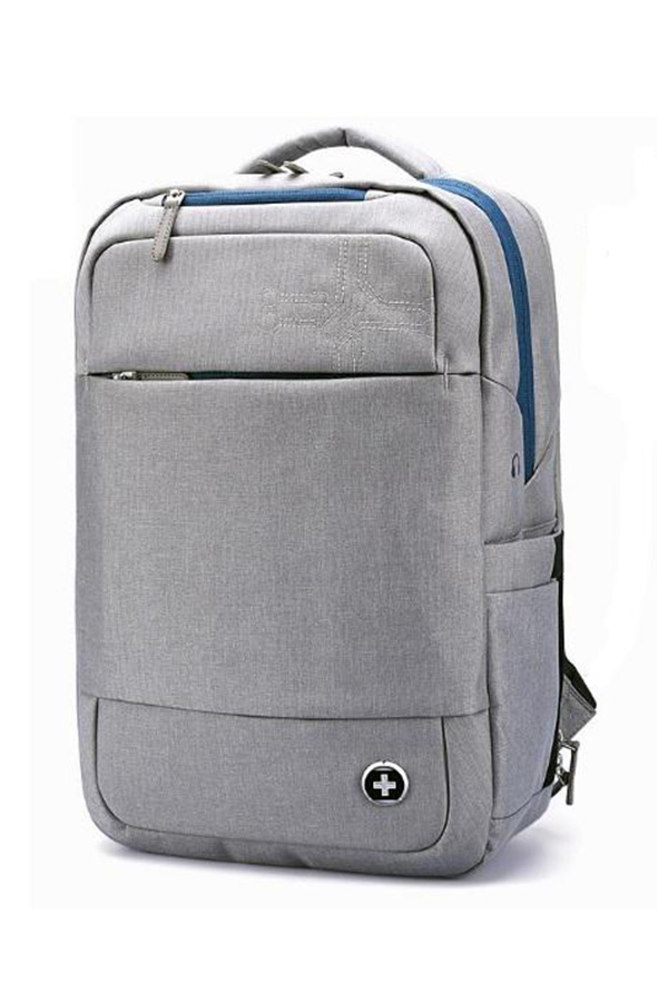 8d8165bca8 Swissdigital URBAN BACKPACK Σακίδιο με RFID γκρι ανοιχτό SURGE SD701-G ...
