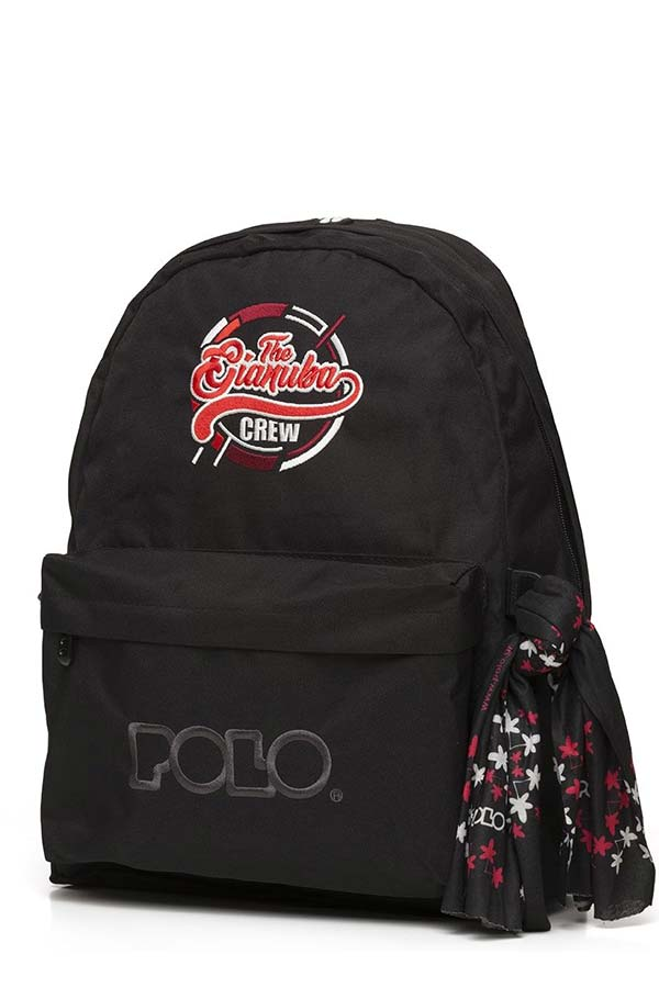 Σακίδιο POLO BACKPACK WITH SCARF Gianuba μαύρο 901005GI 2020