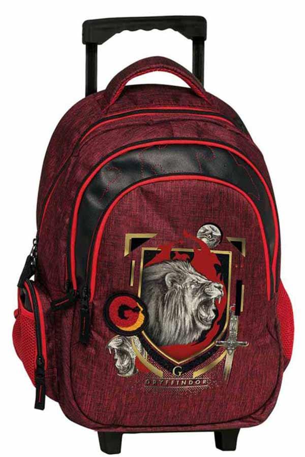Harry Potter Σχολική τσάντα τρόλεϊ - Gryffindor κόκκινη Graffiti 204251