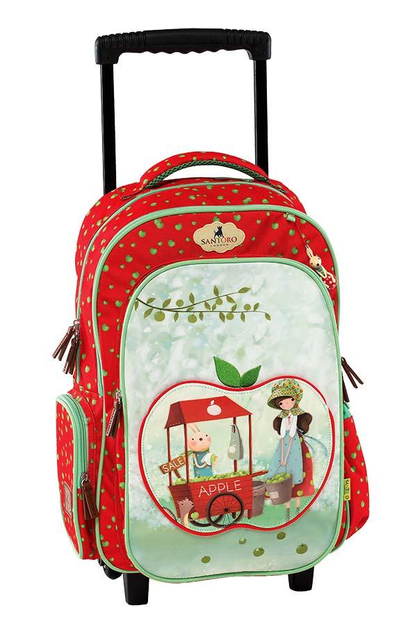 a5cc36efc40 Σχολική τσάντα τρόλεϊ Santoro Kori Kumi Apple Graffiti 177752 ...
