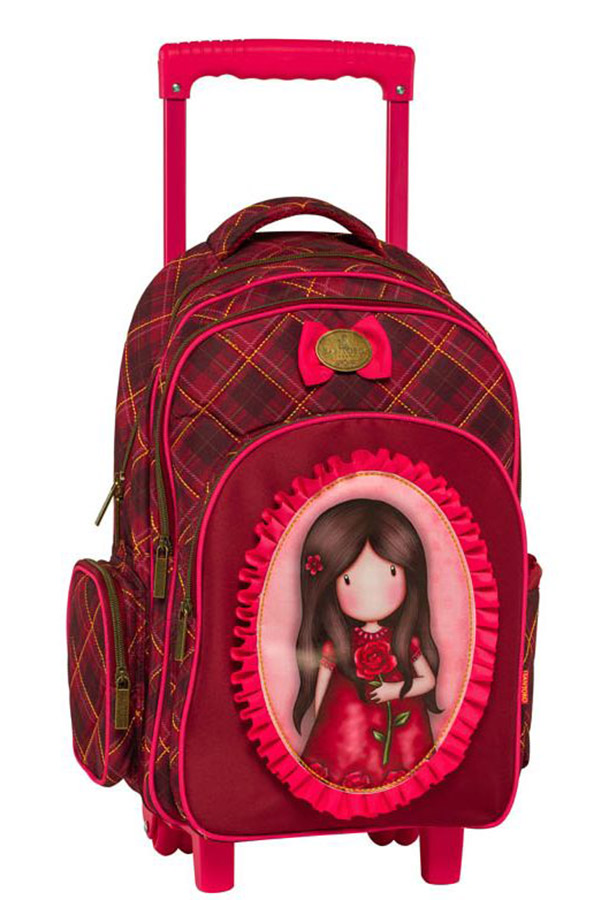 Santoro gorjuss Σχολική τσάντα τρόλεϊ - Single rose Graffiti 217251