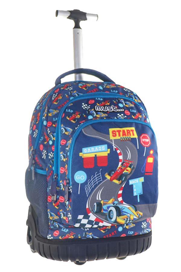 Σχολική τσάντα τρόλεϊ must Premium racing 000579794