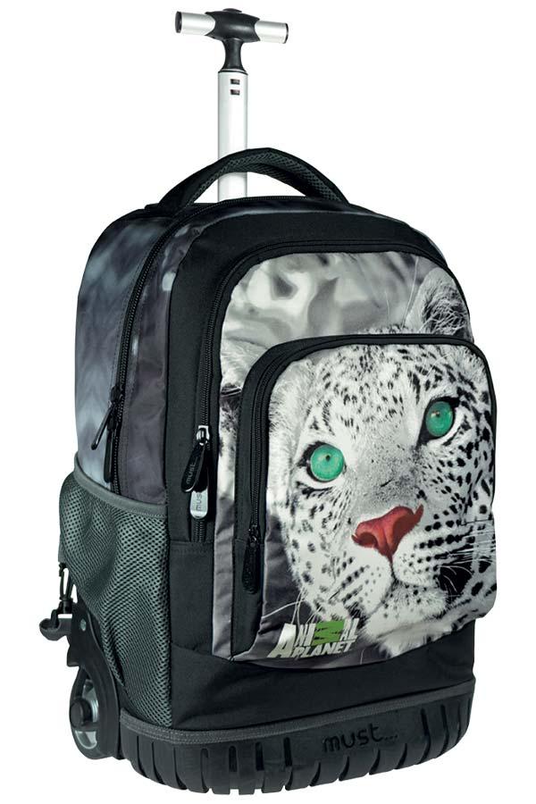 Σχολική τσάντα τρόλεϊ must Animal Planet γατόπαρδος 0570625