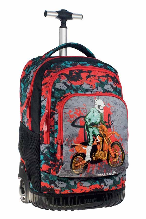 Σχολική τσάντα τρόλεϊ must Premium Motorcyclist 0579280