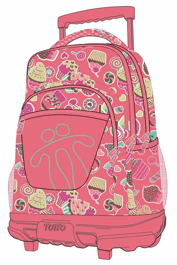 b301d1ed6a Totto Σχολική τσάντα τρόλεϊ Morral Rue Bomper Renglones 3IR ...