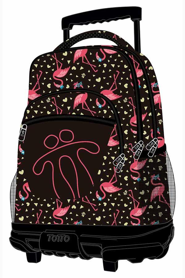 15e890cd16 Totto Σχολική τσάντα τρόλεϊ Morral Rue Bomper Renglones 8E6 ...