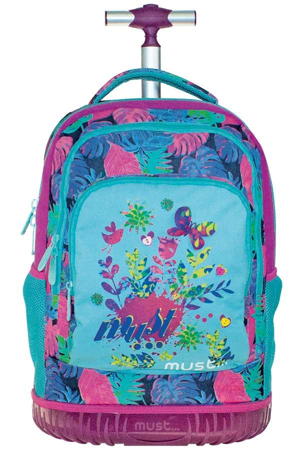 Σχολική τσάντα τρόλεϊ must Premium Flowers 0579283