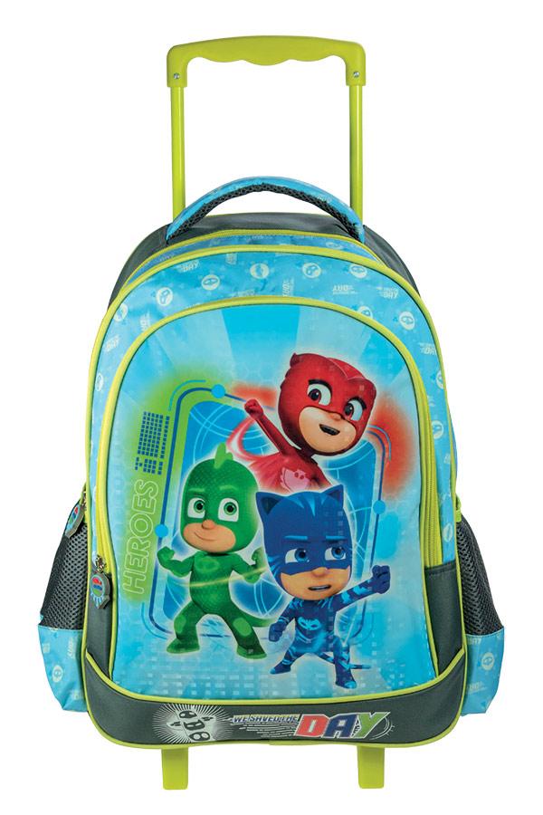 Σχολική τσάντα τρόλεϊ PJMASKS 0484044