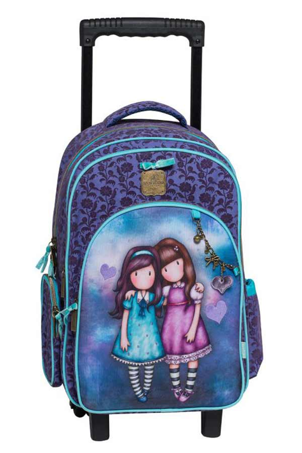 Santoro gorjuss Σχολική τσάντα τρόλεϊ - Friends walk together Graffiti 207251