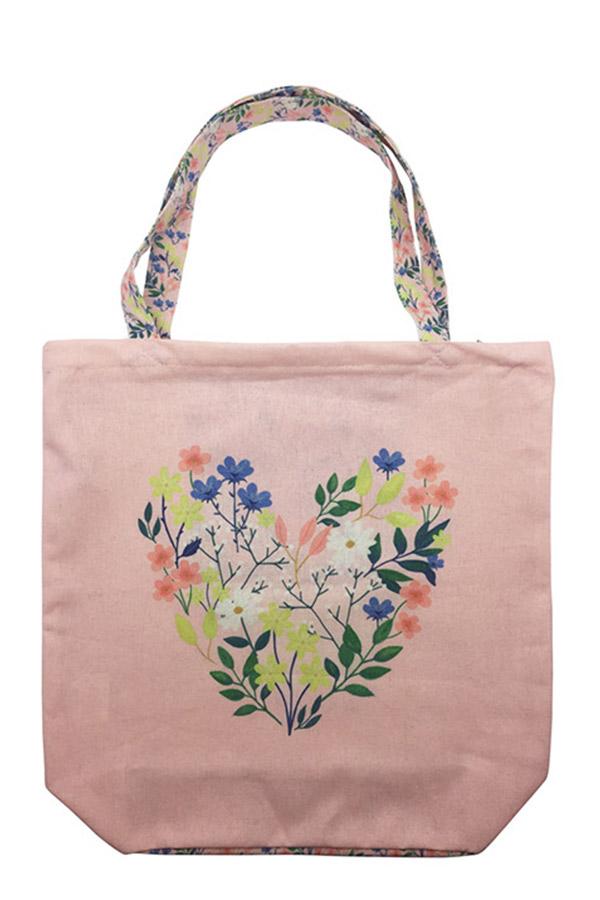 Τσάντα Shopping bag jardin υφασμάτινη Kiub TOTC28B02