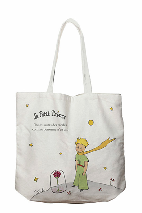 Τσάντα Shopping bag Μικρός Πρίγκιπας υφασμάτινη Kiub TOTC07G03