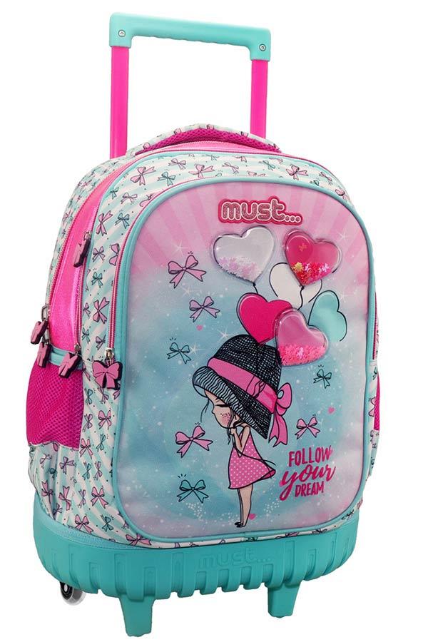 Σχολική τσάντα τρόλεϊ must Follow your dream 000579989