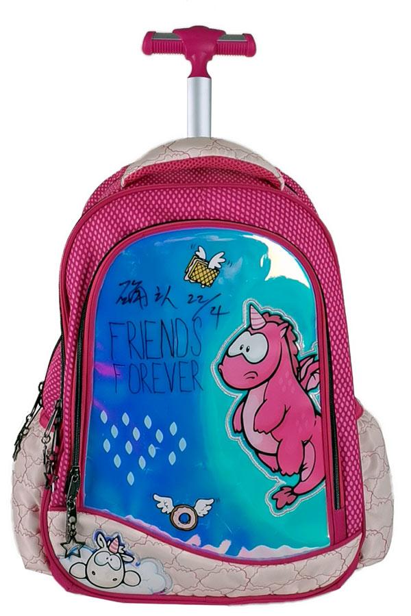 NICI Σχολική τσάντα τρόλεϊ BACK ME up Friends forever 367-04074