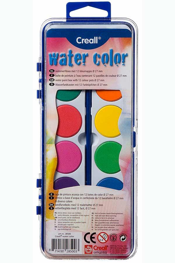 Νερομπογιές Creall 12 χρωμάτων 28500-170698