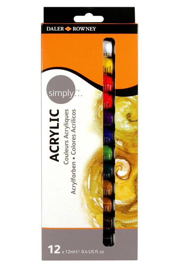 Ακρυλικά χρώματα 12ml σετ 12 χρωμάτων Daler Rowney D126500012