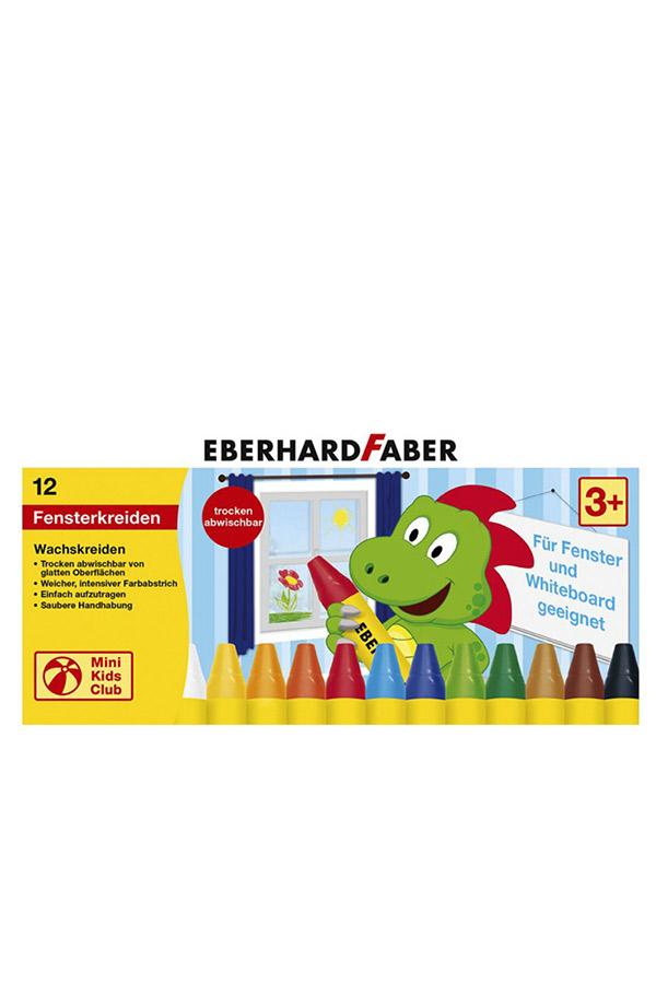 Κηροπαστέλ για τζάμια EBERHARD FABER  12 χρωμάτων 524112