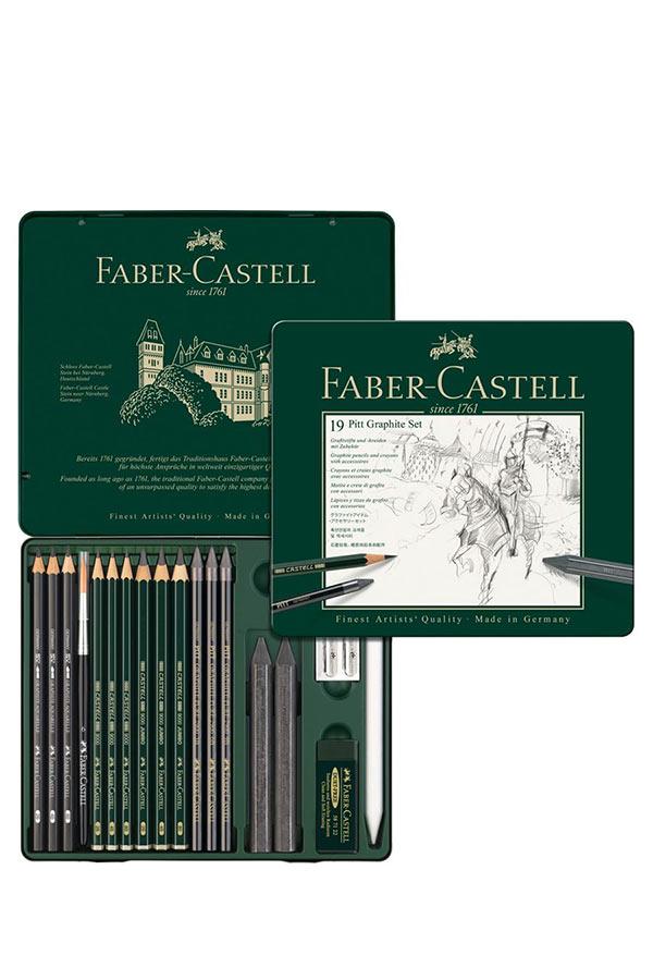 Σετ σκίτσου 19τμχ FABER CASTELL Pitt graphite set 112973