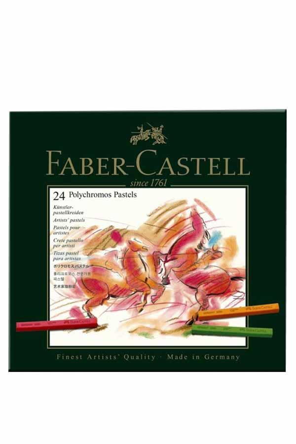 Ξηρά παστέλ ζωγραφικής 24 παστέλ χρωμάτων FABER CASTELL POLYCHROMOS PASTEL 128524