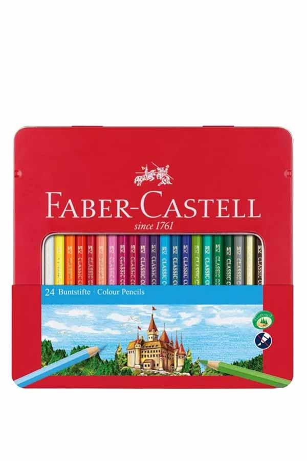 Ξυλομπογιές ζωγραφικής 24 χρωμάτων FABER CASTELL 115824