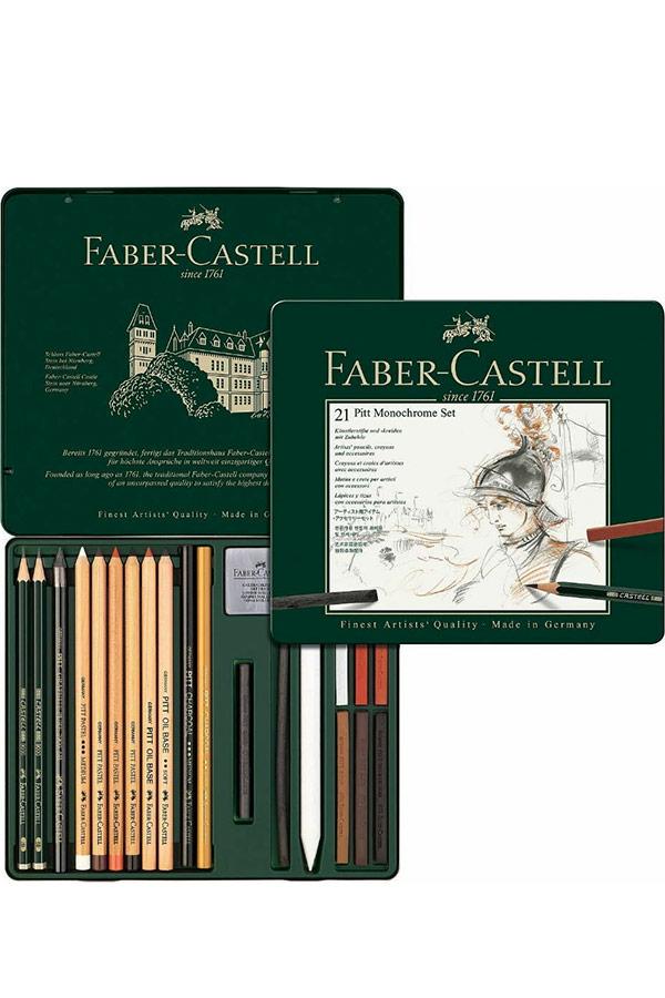 Σετ σκίτσου 21τμχ FABER CASTELL Pitt Monochrome set 112976