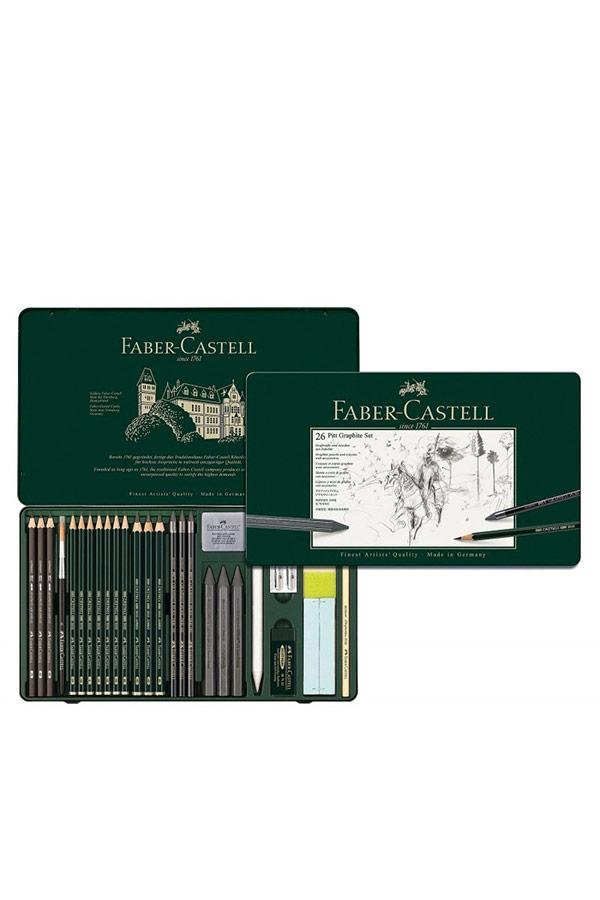 Σετ σκίτσου 26τμχ FABER CASTELL Pitt graphite set 112974