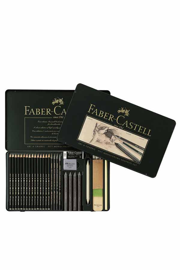 Σετ σκίτσου 29τμχ FABER CASTELL Pitt Monochrome Graphite set 129660
