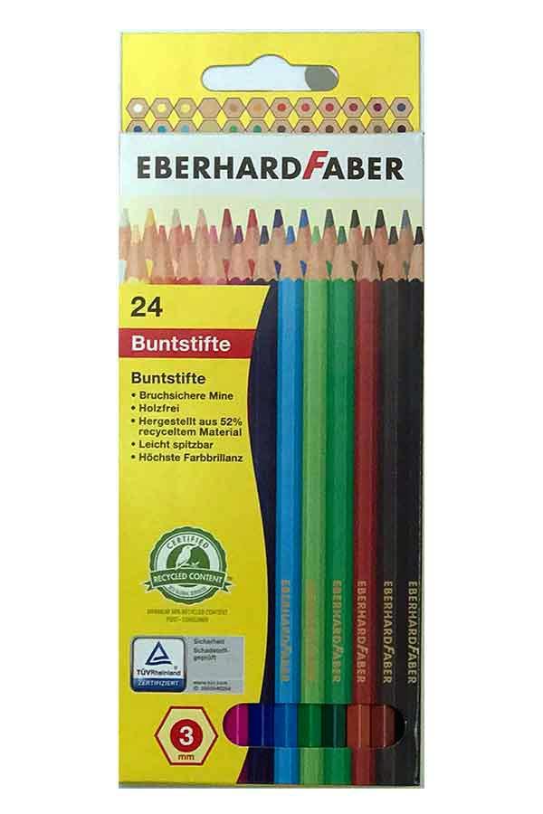 Ξυλομπογιές ζωγραφικής EBERHARD FABER 24 χρωμάτων 514824