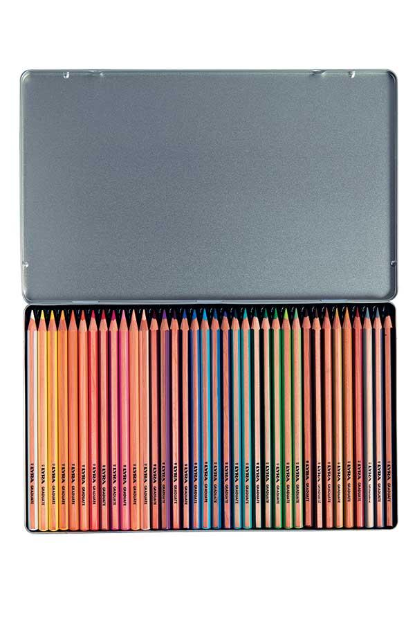 Ξυλομπογιές ζωγραφικής LYRA GRADUATE κασετίνα 36 χρωμάτων 2871360