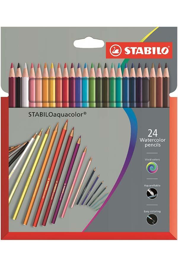 Ξυλοχρώματα νερού STABILO Aquacolor 24 χρωμάτων 1624