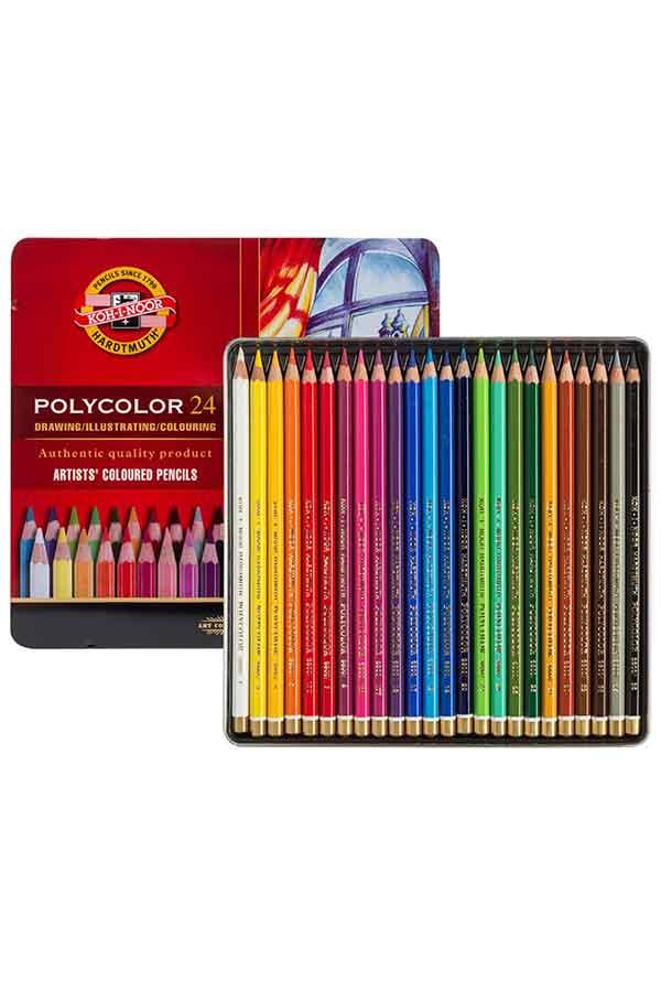 Ξυλομπογιές ζωγραφικής 24 χρωμάτων KOH I NOOR 3824