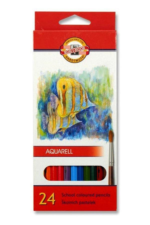 Ξυλοχρώματα νερού KOH I NOOR 24 χρωμάτων 3718