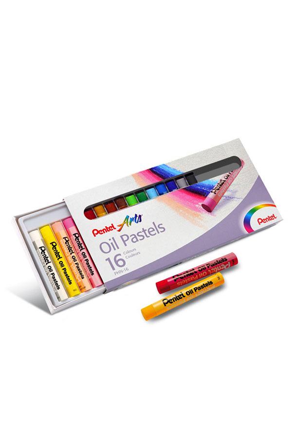 Λαδοπαστέλ Pentel 16 χρωμάτων PHN-16U