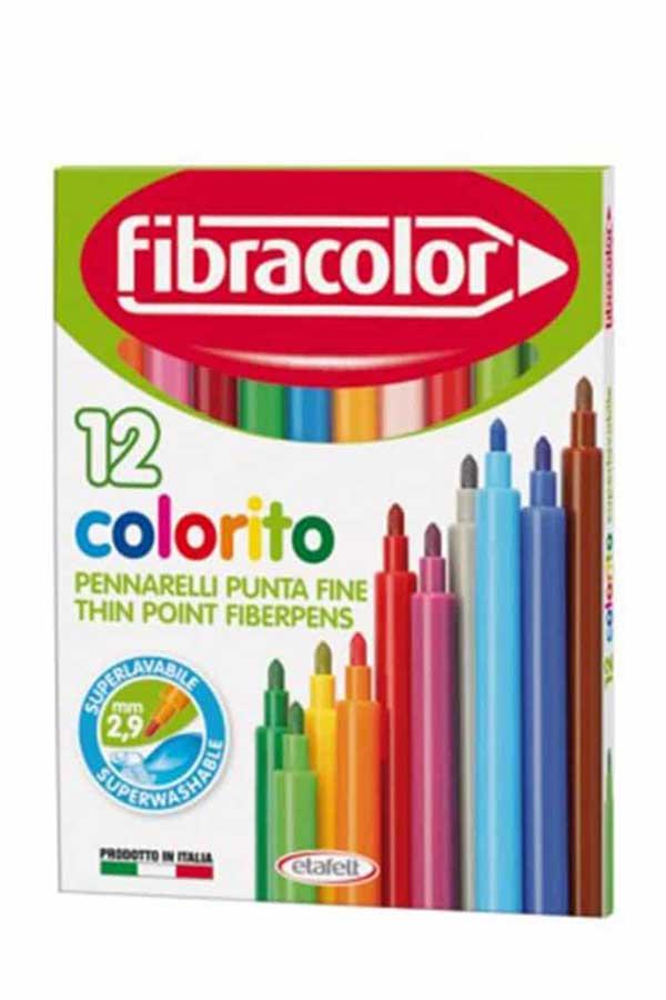 Μαρκαδόροι ζωγραφικής λεπτοί fibracolor colorito 12 χρωμάτων 10539SW012SE