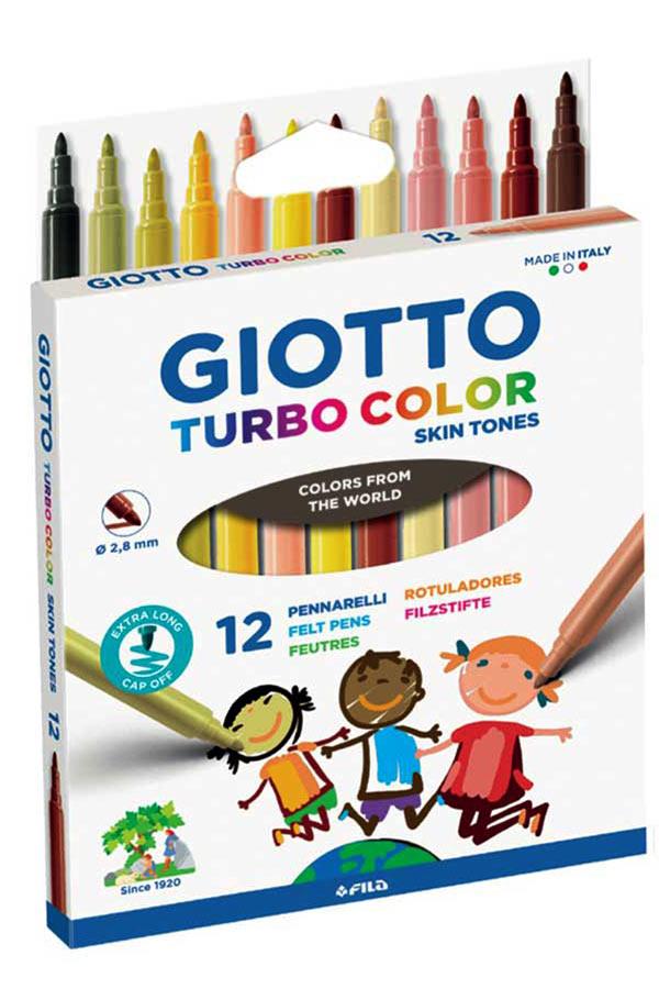 Μαρκαδόροι ζωγραφικής GIOTTO TURBO MAXI SKIN TONES 12 χρωμάτων 526900