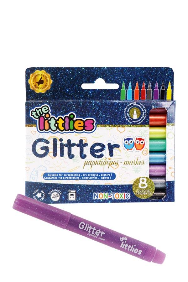 Μαρκαδόροι ζωγραφικής glitter 8 χρωμάτων the littlies 0646529