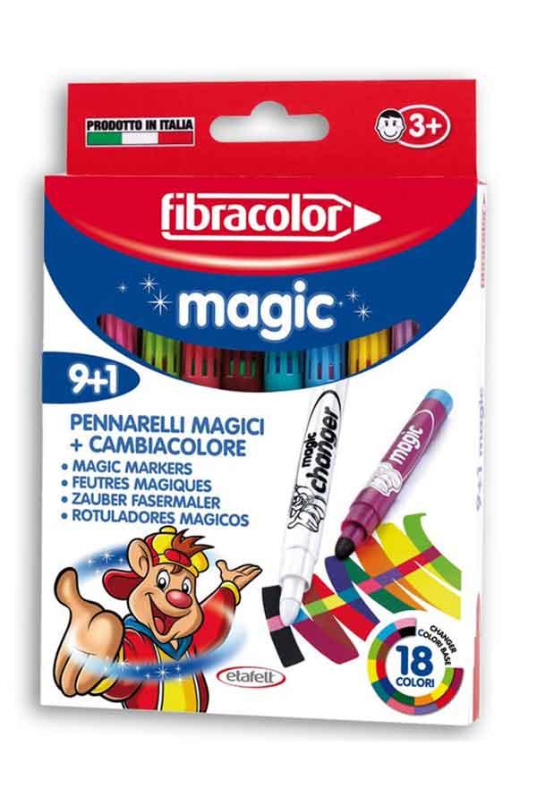 Μαρκαδόροι ζωγραφικής μαγικοί fibracolor magic 9+1 χρωμάτων 10540MA010SE