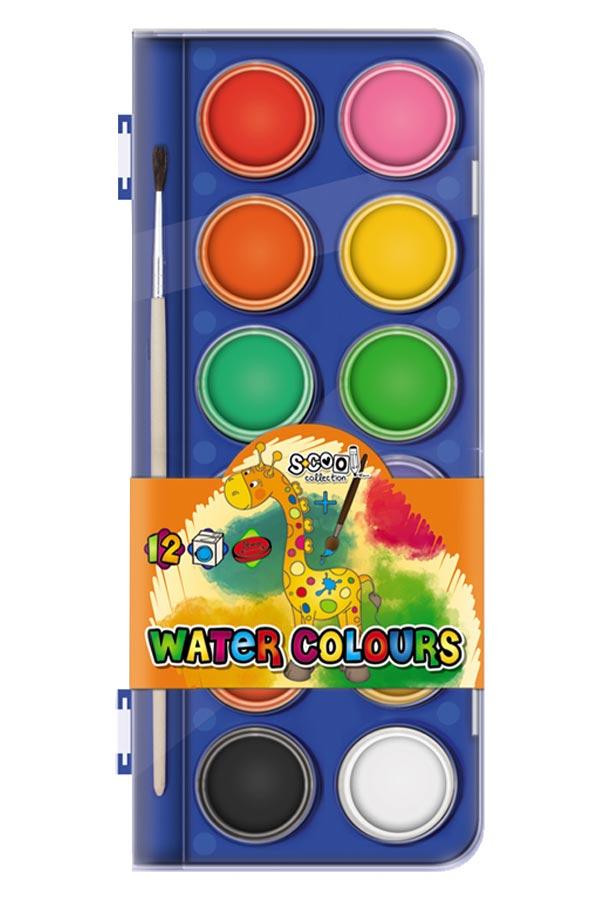 Νερομπογιές S.COOL 12 χρωμάτων SC.311