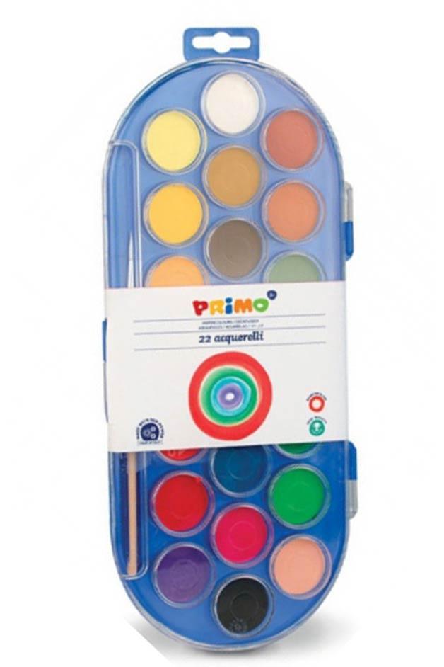 Νερομπογιές PRIMO 22 χρωμάτων 114A22SG