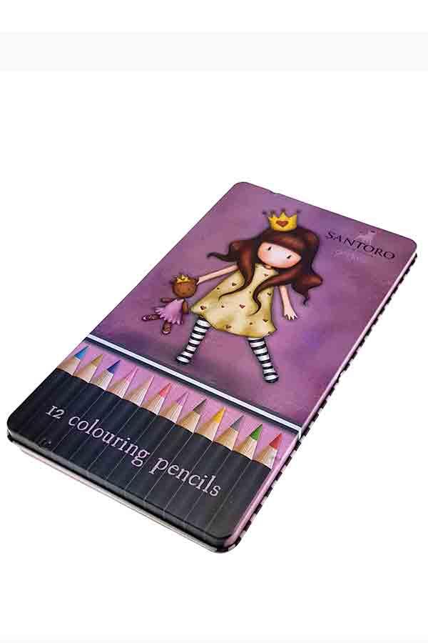 Santoro gorjuss Ξυλομπογιές ζωγραφικής 12 χρωμάτων - Princesses Grafitti 207134