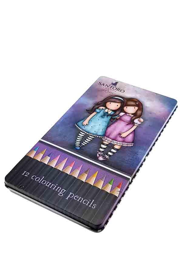 Santoro gorjuss Ξυλομπογιές ζωγραφικής 12 χρωμάτων - Friends walk together Grafitti 207131