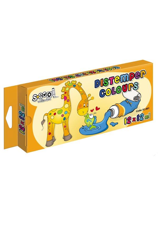 Τέμπερες 12ml S.COOL 12 χρωμάτων SC.001