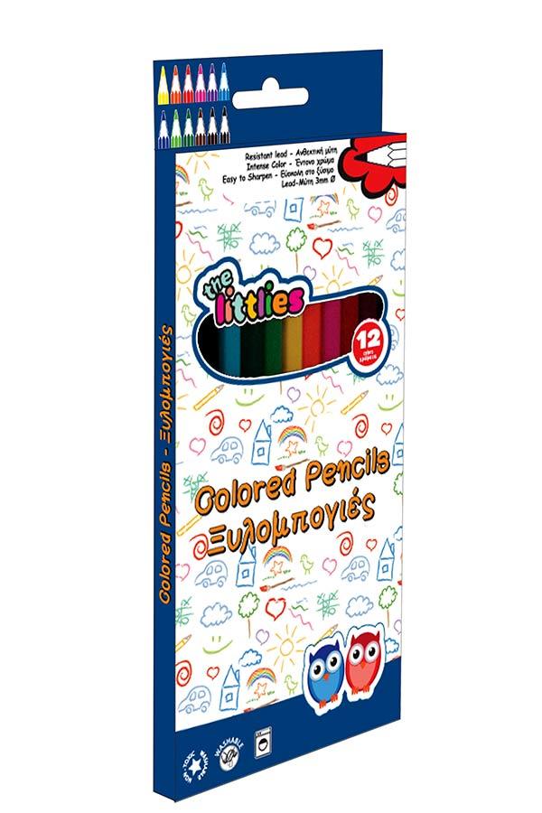 Ξυλομπογιές ζωγραφικής the littlies 12 χρωμάτων 0646082