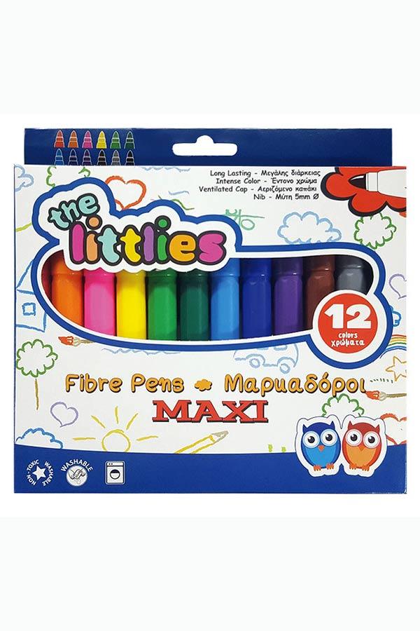 Μαρκαδόροι ζωγραφικής χονδροί the littlies 12 χρωμάτων 0646034