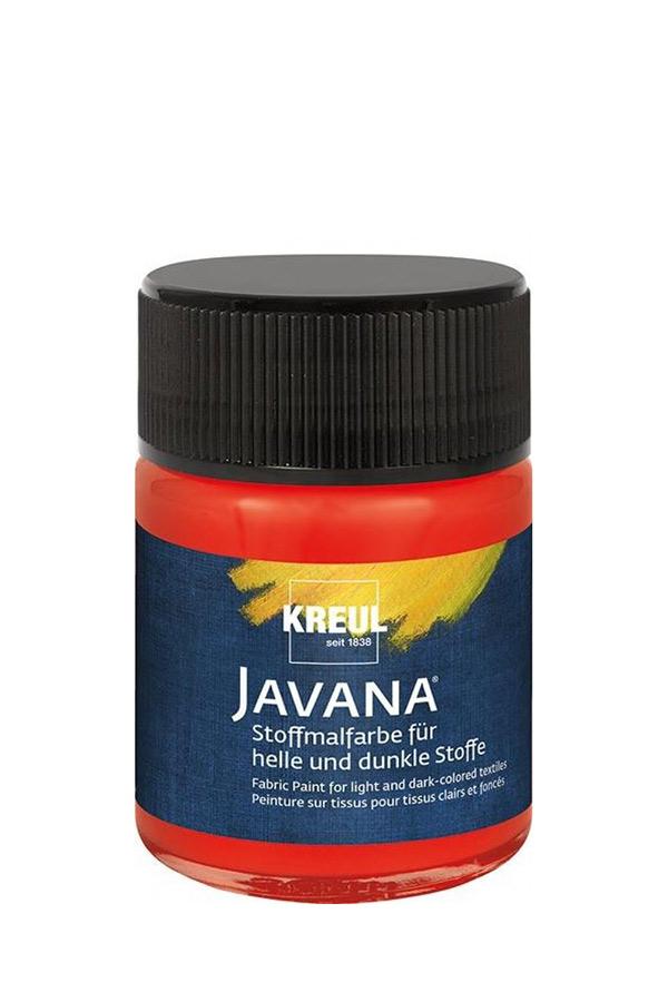 Χρώμα για ύφασμα σκουρόχρωμο JAVANA 50ml κόκκινο KREUL 91963