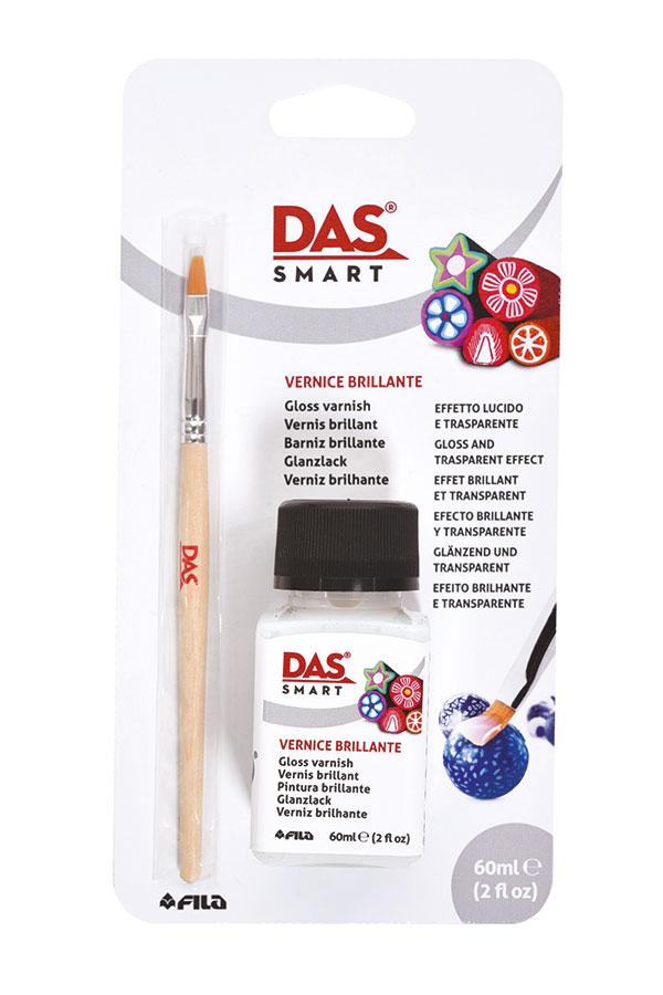 Βερνίκι πολυμερικού πηλού Σετ με πινέλο DAS smart glossy 75ml 329000
