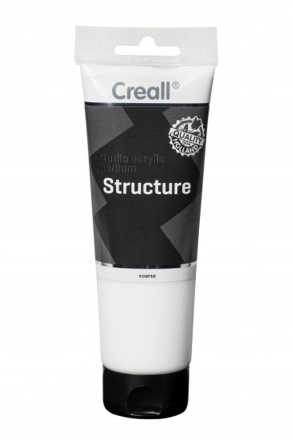 Studio acrylic medium Structure coarse 250ml Creall 40037