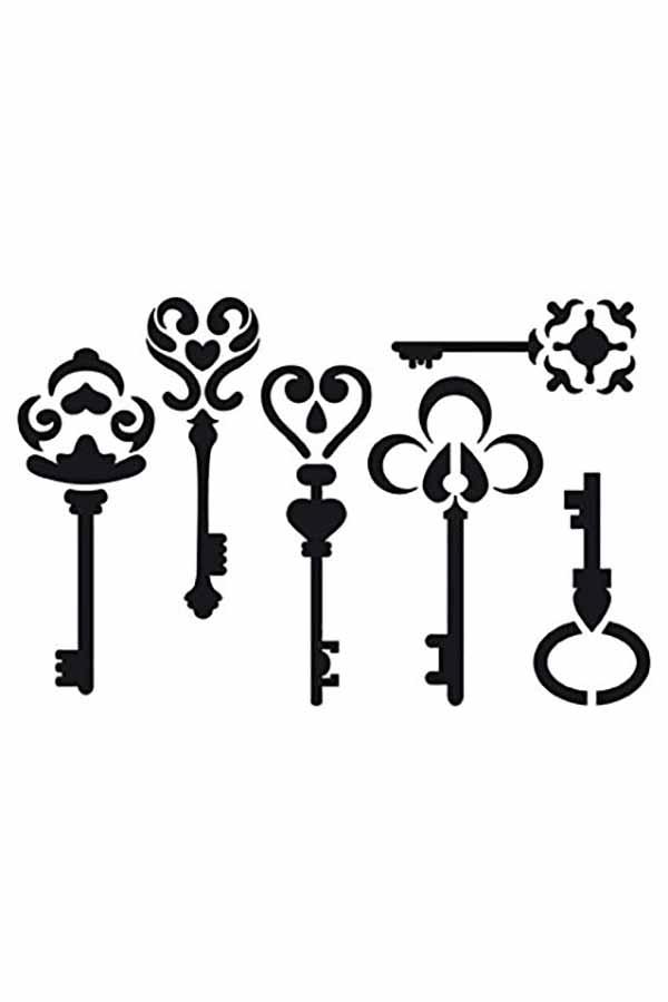 Στένσιλ ζωγραφικής πλαστικό κλειδιά Artemio 15020016