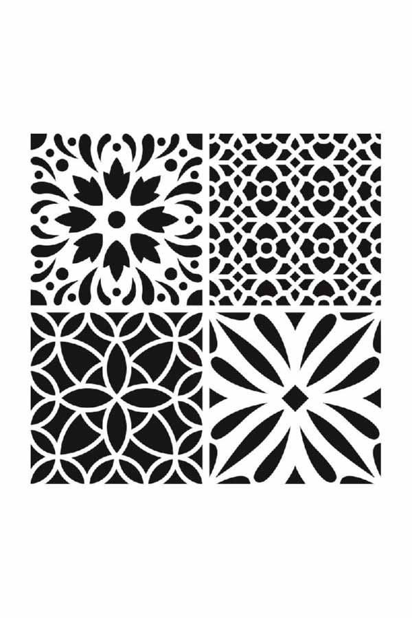Στένσιλ ζωγραφικής πλαστικό τετράγωνο Artemio 15030026